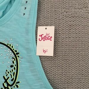 Justice Shirts & Tops - JUSTICE Open Back Tank Top NEW WITH TAGS
